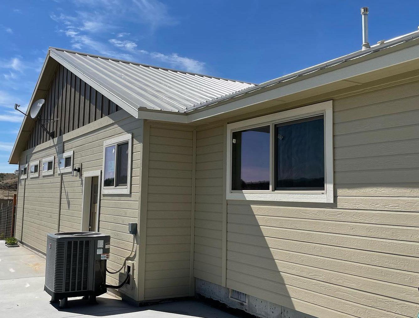 freshly painted residential home